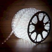 121-125-3; Дюралайт LED, постоянное свечение (2W) - белый, 24 LED/м Ø10мм, бухта 100м