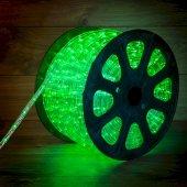 121-254; Дюралайт LED, эффект мерцания (2W) - зеленый, 36 LED/м, бухта 100м
