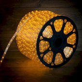 121-121-4; Дюралайт LED, постоянное свечение (2W) - желтый Эконом 24 LED/м , бухта 100м