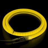 131-071; Гибкий Неон LED SMD 12х12 мм, форма - D, желтый, 120 LED/м, бухта 100м