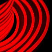131-022; Гибкий Неон DIP 12x26мм - красный, оболочка красная, бухта 50м