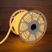 131-081; Гибкий неон LED SMD, форма – D, 16х16 мм, желтый, 120 LED/м, бухта 50 м