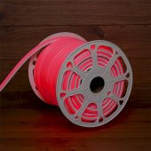 131-082; Гибкий неон LED SMD, форма – D, 16х16 мм, красный, 120 LED/м, бухта 50 м