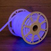 131-083; Гибкий неон LED SMD, форма – D, 16х16 мм, синий, 120 LED/м, бухта 50 м