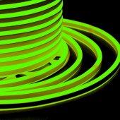 131-064; Гибкий Неон LED SMD, компактный 7х12мм, двухсторонний, зеленый, 120 LED/м, бухта 100м