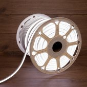 131-095; Гибкий неон LED SMD 8х16 мм, двухсторонний, белый, 120 LED/м, бухта 100 м