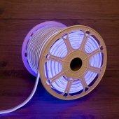 131-093; Гибкий неон LED SMD 8х16 мм, двухсторонний, синий, 120 LED/м, бухта 100 м