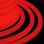 131-032; Гибкий Неон LED 360 (круглый) - красный, бухта 50м