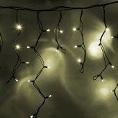 """255-246; Гирлянда Айсикл (бахрома) светодиодная 5.6х0.9 м, черный провод """"КАУЧУК"""", 230 В, диоды теплый белый, 240 LED"""