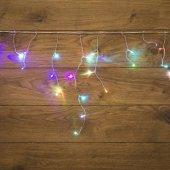 255-009; Гирлянда Айсикл (бахрома) светодиодная 1.8х0.5 м, прозрачный провод, 230 В, диоды RGB
