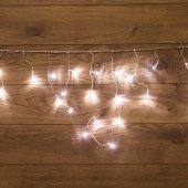 255-015; Гирлянда Айсикл (бахрома) светодиодная 1.8х0.5 м, прозрачный провод, 230 В, диоды белые