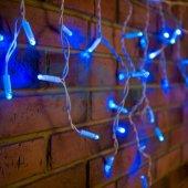 255-033; Гирлянда Айсикл (бахрома) светодиодная 2.4х0.6 м, белый провод, 230 В, диоды синие, 88 LED