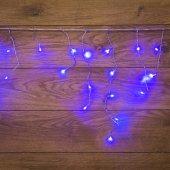 255-013; Гирлянда Айсикл (бахрома) светодиодная 1.8х0.5 м, прозрачный провод, 230 В, диоды синие