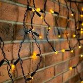 255-041; Гирлянда Айсикл (бахрома) светодиодная 2.4х0.6 м, черный провод, 230 В, диоды жёлтые, 88 LED