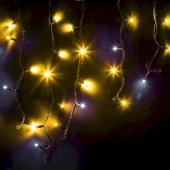 """255-231; Гирлянда Айсикл (бахрома) светодиодная 4.0х0.6 м, с эффектом мерцания, черный провод """"КАУЧУК"""", 230 В, диоды желтые,"""