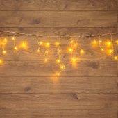 255-016; Гирлянда Айсикл (бахрома) светодиодная 1.8х0.5 м, прозрачный провод, 230 В, диоды теплый белый