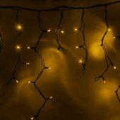 """255-241; Гирлянда Айсикл (бахрома) светодиодная 5.6х0.9 м, черный провод """"КАУЧУК"""", 230 В, диоды желтые, 240 LED"""
