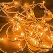 331-306; Гирлянда LED Galaxy Bulb String 10м, белый КАУЧУК, 30 лампx6 LED теплый белый, влагостойкая IP65