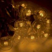 331-321; Гирлянда LED Galaxy Bulb String 10м, черный КАУЧУК, 30 лампx6 LED ЖЕЛТЫЕ, влагостойкая IP65