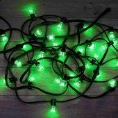 331-324; Гирлянда LED Galaxy Bulb String 10м, черный КАУЧУК, 30 лампx6 LED ЗЕЛЕНЫЕ, влагостойкая IP65