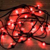 331-322; Гирлянда LED Galaxy Bulb String 10м, черный КАУЧУК, 30 лампx6 LED КРАСНЫЕ, влагостойкая IP65