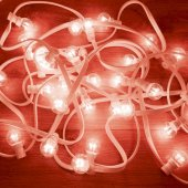 331-302; Гирлянда LED Galaxy Bulb String 10м, белый КАУЧУК, 25 лампx6 LED КРАСНЫЕ, влагостойкая IP65