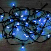 331-323; Гирлянда LED Galaxy Bulb String 10м, черный КАУЧУК, 30 лампx6 LED СИНИЕ, влагостойкая IP65