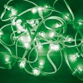 331-304; Гирлянда LED Galaxy Bulb String 10м, белый КАУЧУК, 30 лампx6 LED ЗЕЛЕНЫЕ, влагостойкая IP65