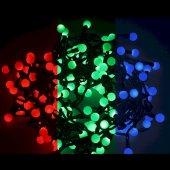 """303-519; Гирлянда """"Мультишарики"""" Ø23 мм, 10 м, черный ПВХ, 80 диодов, цвет RGB"""