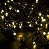305-171; Гирлянда Нить 10м, постоянное свечение, черный ПВХ, 230В, цвет: желтый