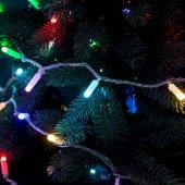 245-409; Гирлянда Нить 10м, 100 LED, цвет: RGB. свечение с динамикой (при использовании контроллера), 230 В