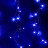 """315-153; Гирлянда модульная """"Дюраплей LED"""" 20м 200 LED черный каучук синий"""