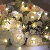 302-006; Гирлянда «Роса» с крупными каплями 2 м, 20 LED, теплое белое свечение, 2хCR2032 в комплекте