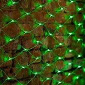 """215-044; Гирлянда """"Сеть"""" 2х1.5м, свечение с динамикой, прозрачный ПВХ, 288 LED, 230 В, цвет: зеленый"""