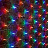 """217-149; Гирлянда """"Сеть"""" 2x3м, белый КАУЧУК, 432 LED Мультиколор"""