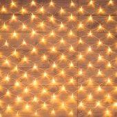 "215-126; Гирлянда ""Сеть"" 1.5х1.5м, прозрачный ПВХ, 150 LED теплый белый"