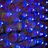 """215-043; Гирлянда """"Сеть"""" 2х1.5м, свечение с динамикой, прозрачный ПВХ, 288 LED, 230 В, цвет: синий"""