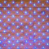 """215-133; Гирлянда """"сеть"""" 1.8х1.5м, прозрачный ПВХ, 180 LED, цвет: синий"""