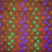 "215-119-6; Гирлянда ""Сеть"" 1х1.5м, прозрачный ПВХ, 96 LED Мультиколор"