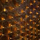 """215-041; Гирлянда """"Сеть"""" 2х1.5м, свечение с динамикой, прозрачный ПВХ, 288 LED, 230 В, цвет: желтый"""