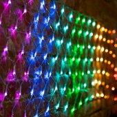 "215-049; Гирлянда ""Сеть"" 3х0.5м, прозрачный ПВХ, 140 LED Мультиколор (10 цветов)"