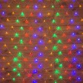 "215-129; Гирлянда ""Сеть"" 1.5х1.5м, прозрачный ПВХ, 150 LED Мультиколор"