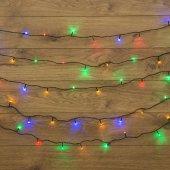 "303-049; Гирлянда ""Твинкл Лайт"" 10 м, темно-зеленый ПВХ, 80 LED, цвет мультиколор"