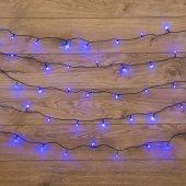"""303-053; Гирлянда """"Твинкл Лайт"""" 15 м, темно-зеленый ПВХ, 120 LED, цвет синий"""