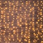 """235-036; Гирлянда """"Светодиодный Дождь"""" 1.5х1.5м, свечение с динамикой, прозрачный провод, 230 В, диоды теплый белый"""
