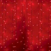 """235-112; Гирлянда """"Светодиодный Дождь"""" 2х1.5м, постоянное свечение, белый провод, 230 В, диоды КРАСНЫЕ, 360 LED"""
