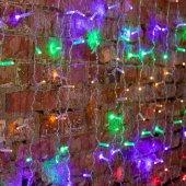 """235-309-6; Гирлянда """"Светодиодный Дождь"""" 2х1.5м, постоянное свечение, прозрачный провод, 230 В, диоды МУЛЬТИ, 192 LED"""