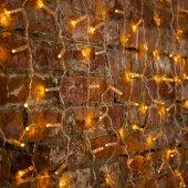"""235-101; Гирлянда """"Светодиодный Дождь"""" 2x0.8м, прозрачный провод, 230 В, диоды Желтые, 160 LED"""