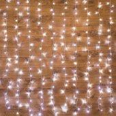 """235-025; Гирлянда """"Светодиодный Дождь"""" 1.5х1м, свечение с динамикой, прозрачный провод, 230 В, диоды БЕЛЫЕ"""