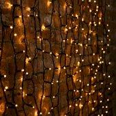 """237-121; Гирлянда """"Светодиодный Дождь"""" 2х1.5м, постоянное свечение, черный провод """"КАУЧУК"""", 230 В, диоды ЖЁЛТЫЕ, 360 LED"""